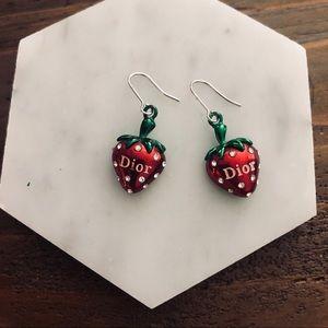 Dior Strawberry Earrings
